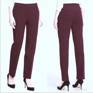 ANN TAYLOR Modern Slim Fit Ankle Pant Burgundy NWT